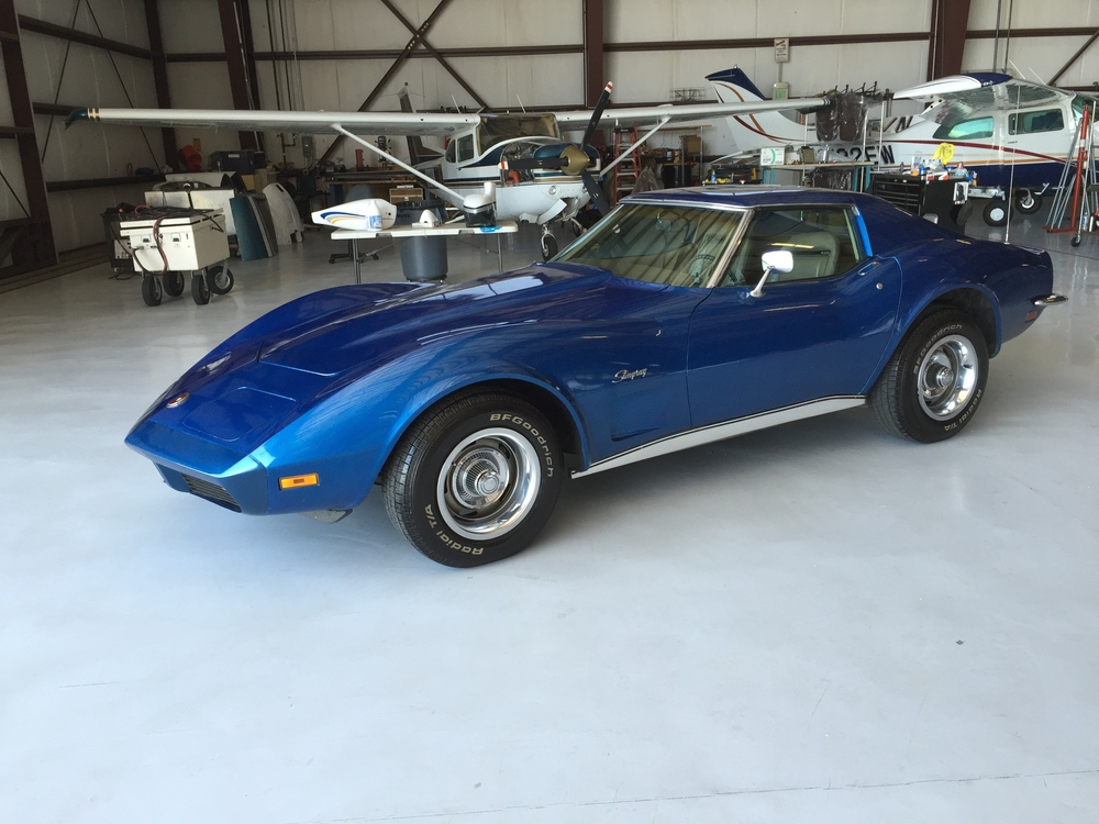 1973 Corvette Stingray;  84,000 original miles.  $35,000 spent to restore.  Needs seats, carpets redone.  New GM ZZ4 350 engine producing 390 HP!  Fresh 4 speed Transmission, Brakes, suspension, rear end all overhauled. Hangared. No rust. Beautiful car.  $28,000.  Call.  SOLD!