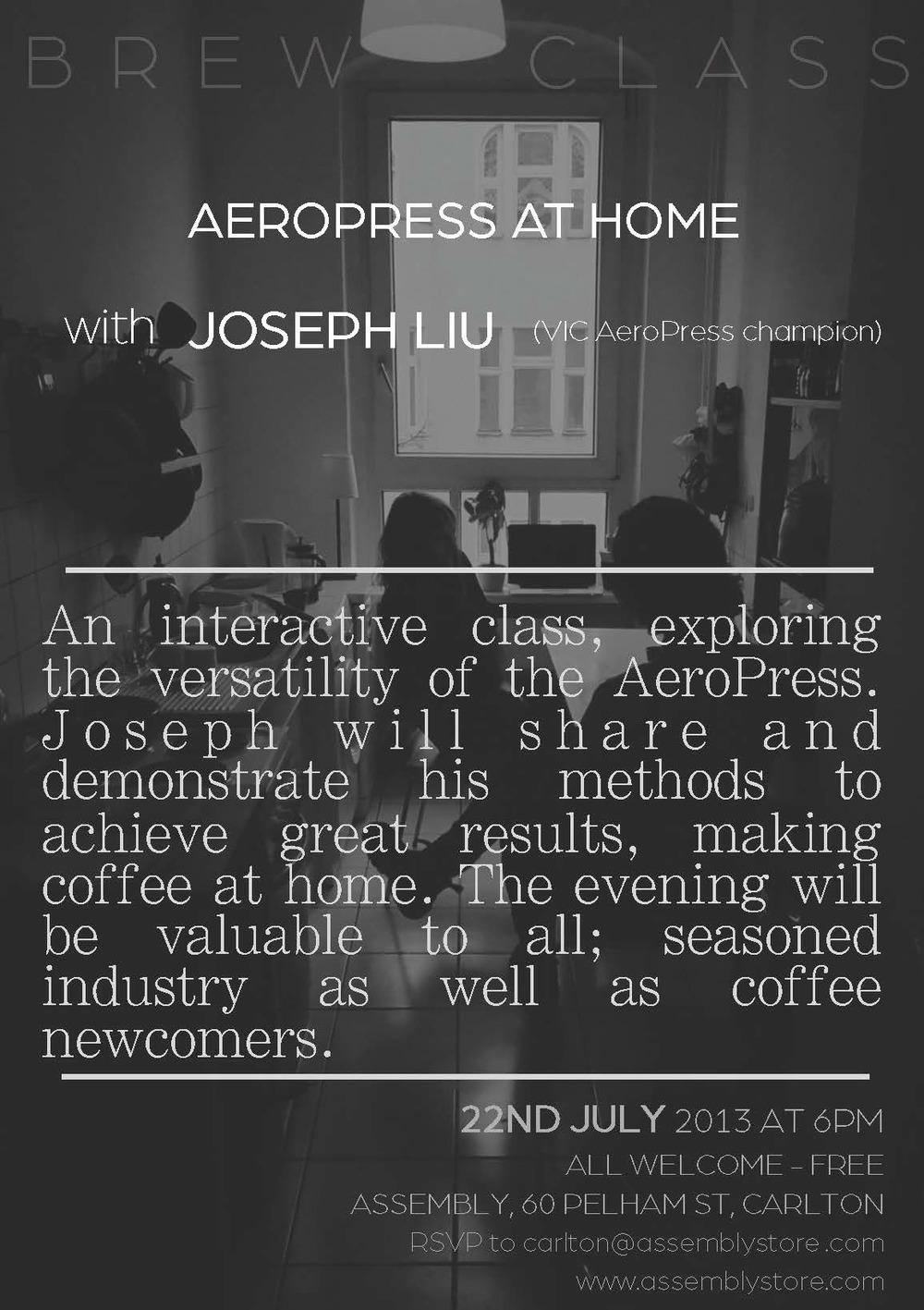 Brew Class 001 Joseph Liu