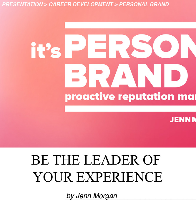 Today, 70% of employees in the USA are actively disengaged from the work they do. That means, not only do you have to be good at what you do, you need to be an effective marketer too. Jenn Morgan reveals how having a 'brand mindset' increases your ability to engage others in you and your ideas by becoming the leader of the experience. This fun, lively presentation will help you think of yourself as a brand giving you a strategic advantage and your career a competitive edge. You'll be inspired and walk away armed with a blueprint for how to command attention, earn trust quickly and lead powerful results in today's marketplace.