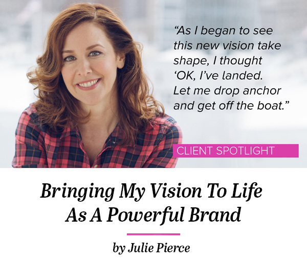 After years of developing her expertise and building her sales and marketing skills, Julie was struggling to pull all the pieces together and connect with potential customers to get her business off the ground. This story reveals how branding helped Julie engage new clients and take calculate steps toward building her business. Read the story here.