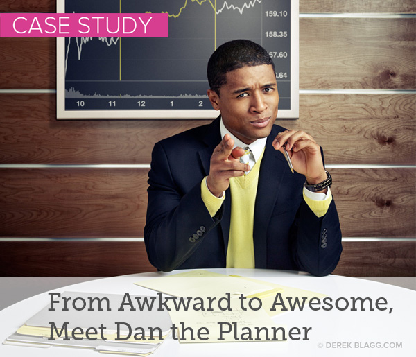 Dan had exhausted his personal network and was struggling to attract new leads at networking events. This case study illustrates how crafting his personal brand strategy helped him use his words to pull people closer to him. He went from an invisible nerd to a purposeful advisor who stands out at every event with a distinctive communication style. Read the story here.