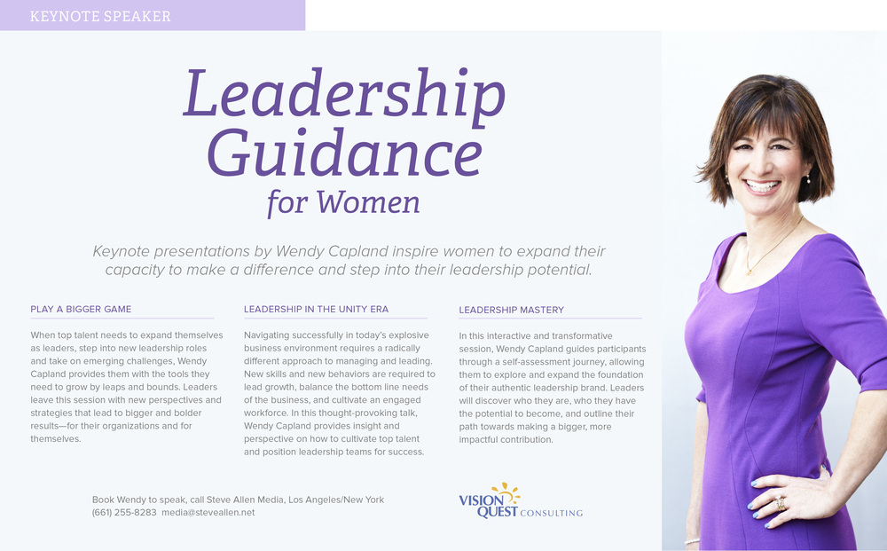 WENDY CAPLAND—Press Kit for Marketing & Media