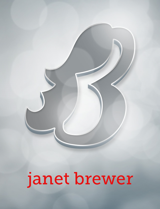 JANET BREWER—Business Card and Postcard