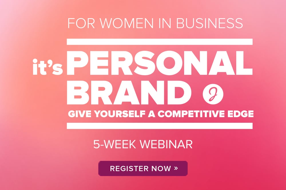 it's PERSONAL BRAND is a 5-week webinar designed to help women showcase their talent in business.  Jenn focuses you in on your unique perspective and teaches you a way of thinking about your brand that gives your career a competitive edge.  Learn more about the training here.