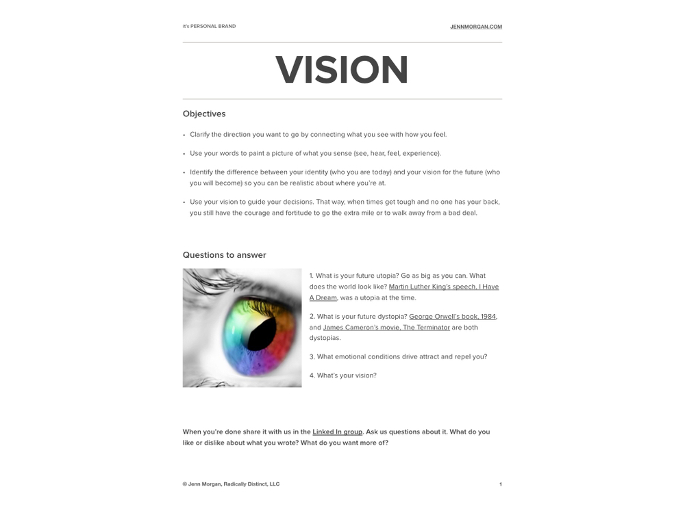 Download Powerful Vision Worksheet as a PDF