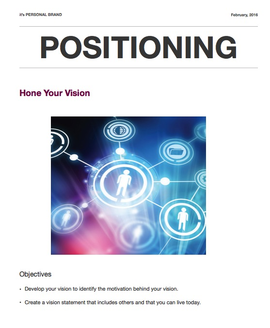 Worksheet 4: Hone Your Vision