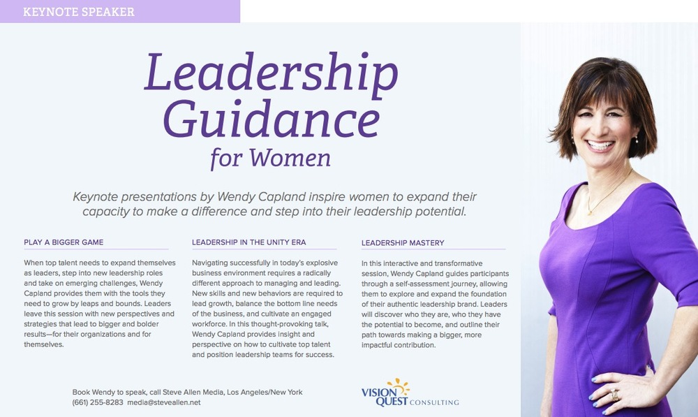 Promotional PDF for Wendy Capland, page 1