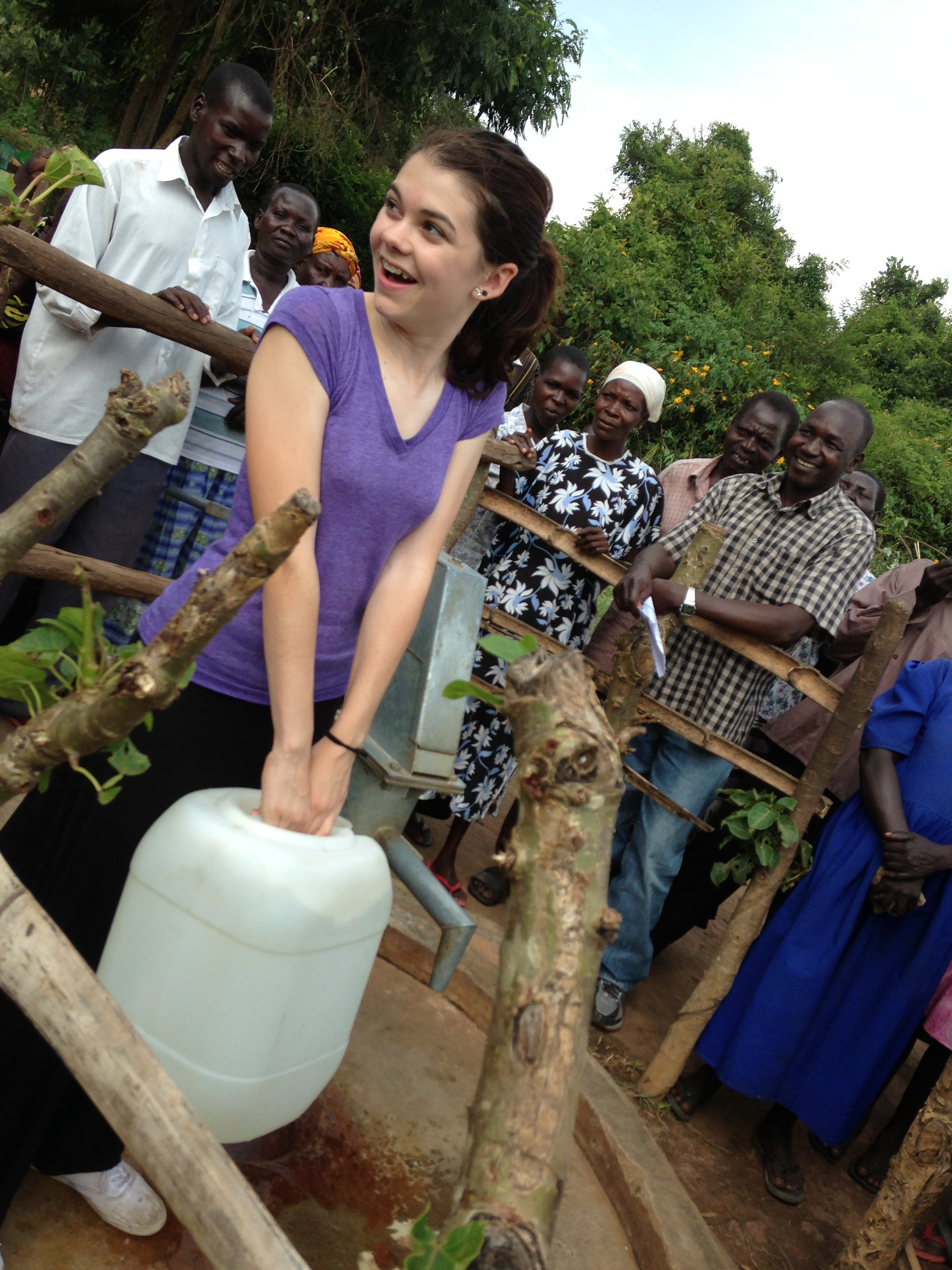 "Thank you Warriors!  This summer I visited the remotest areas of northern Uganda where I saw the water projects we helped to fund and I met the local people who build and maintain these life-saving wells.  They asked me to ""send their greetings and thanks to all of you who care about us even though you have never met us""."
