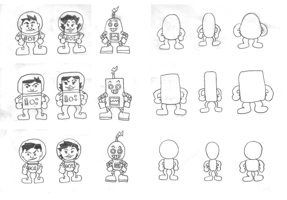 Various body types and their basic shapes when broken down.