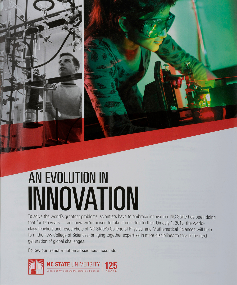 "An example of a ""Transformation"" printed advertisement which appeared in the NC State Alumni Magazine."