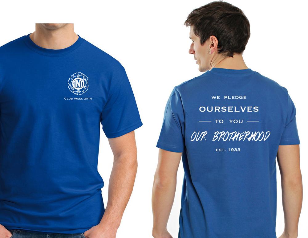 A t-shirt design for Club Week 2014.