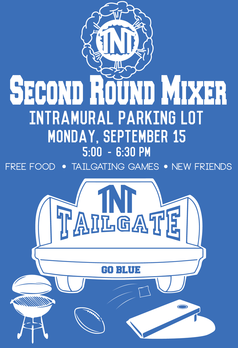 A poster design for the Second Round Mixer.