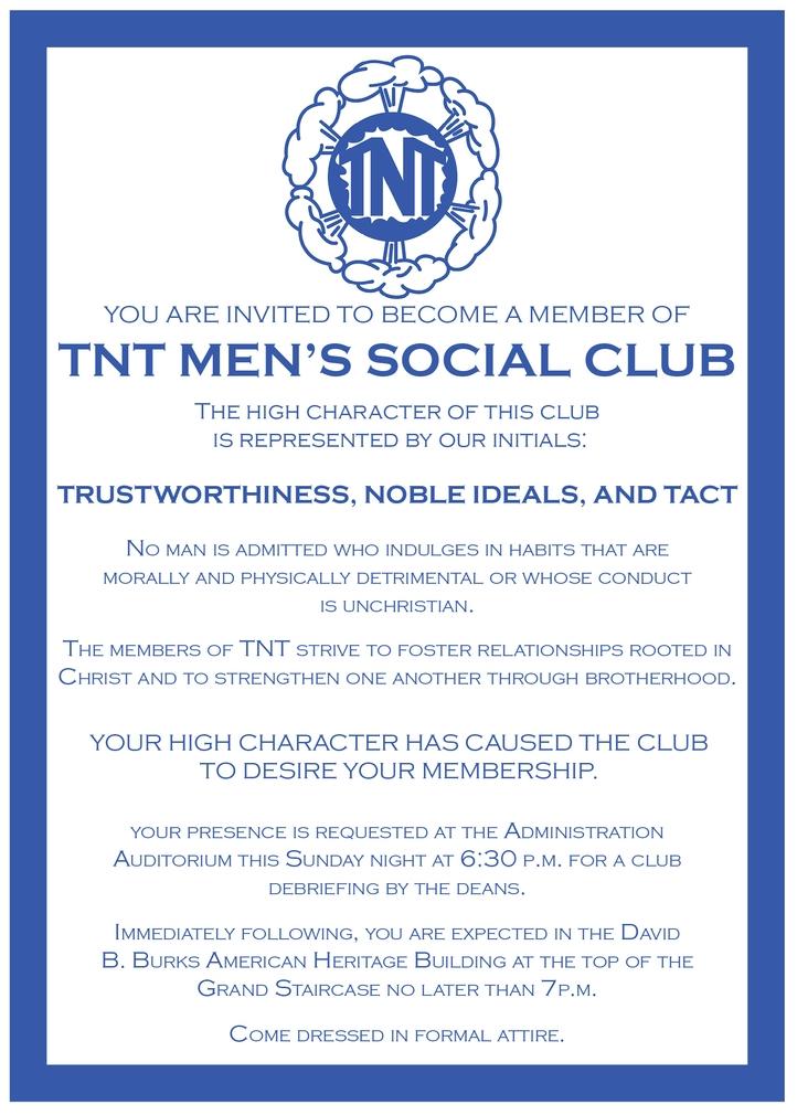 Bid invitation asking for Club Week participation.