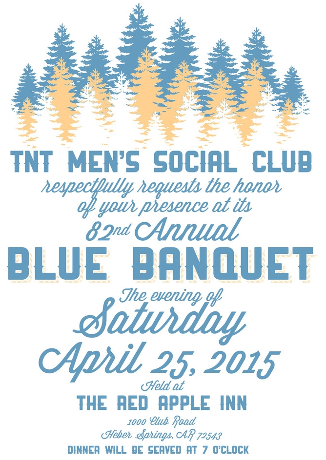 Invitation to the 2015 Blue Banquet