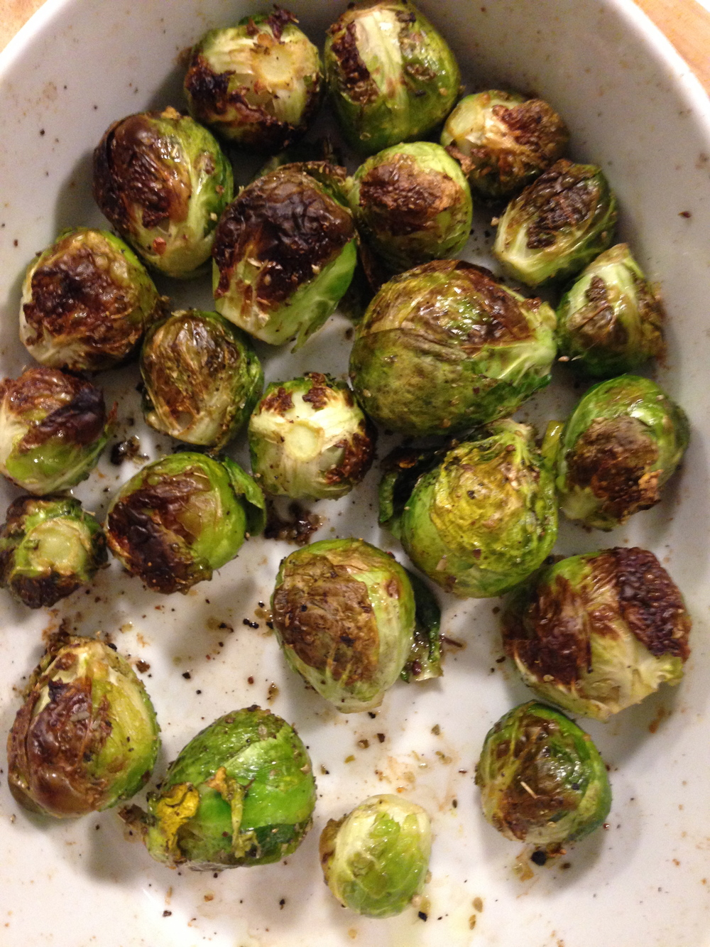 Roasted Brussels sprouts. Delicious and filling.