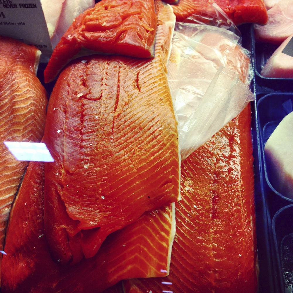 Wild salmon is packed with omega-3's and is one of our favorites.
