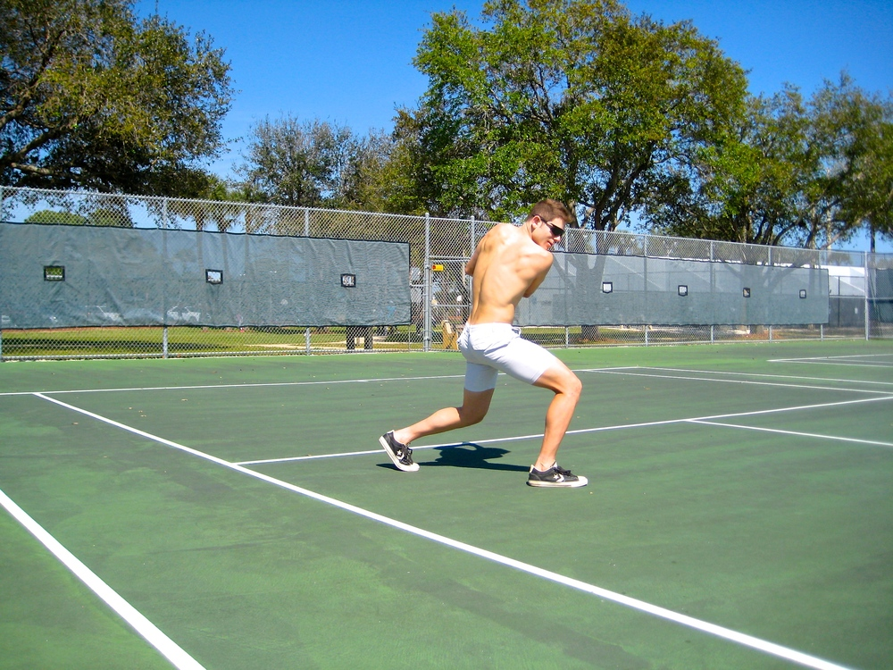Jon's background in tennis has allowed him to build a functional physique through sports.