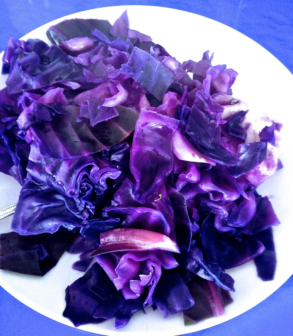Steamed red cabbage, a staple of the AFC Household.