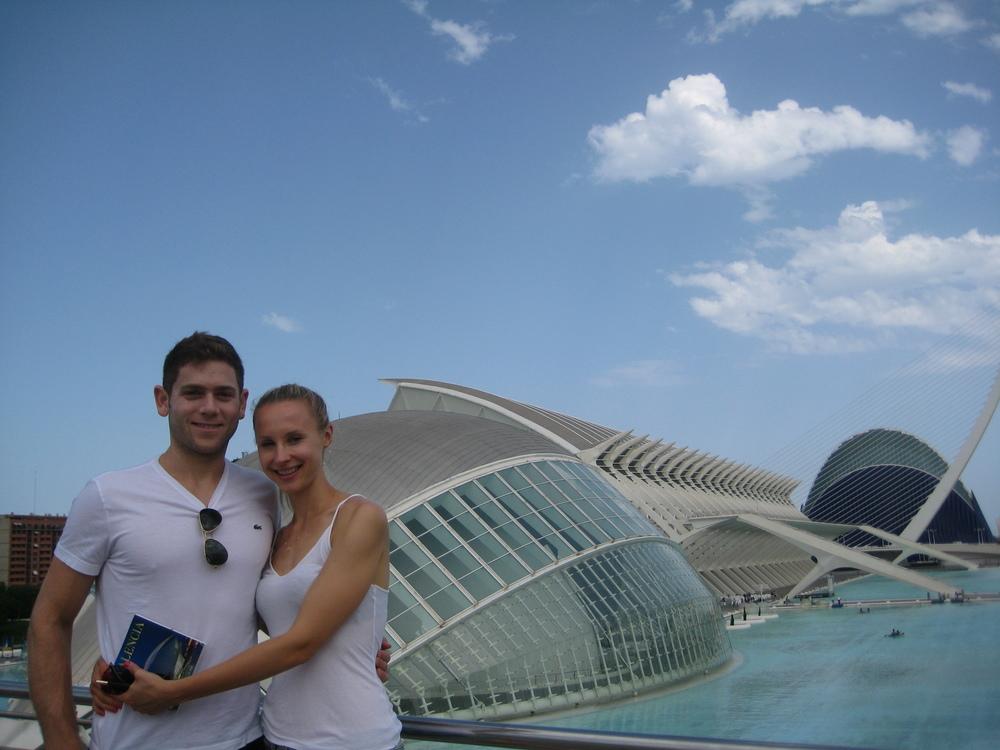 """In between workouts, the Couple found time to visit """"La Ciudad de Artes y Ciencias."""""""