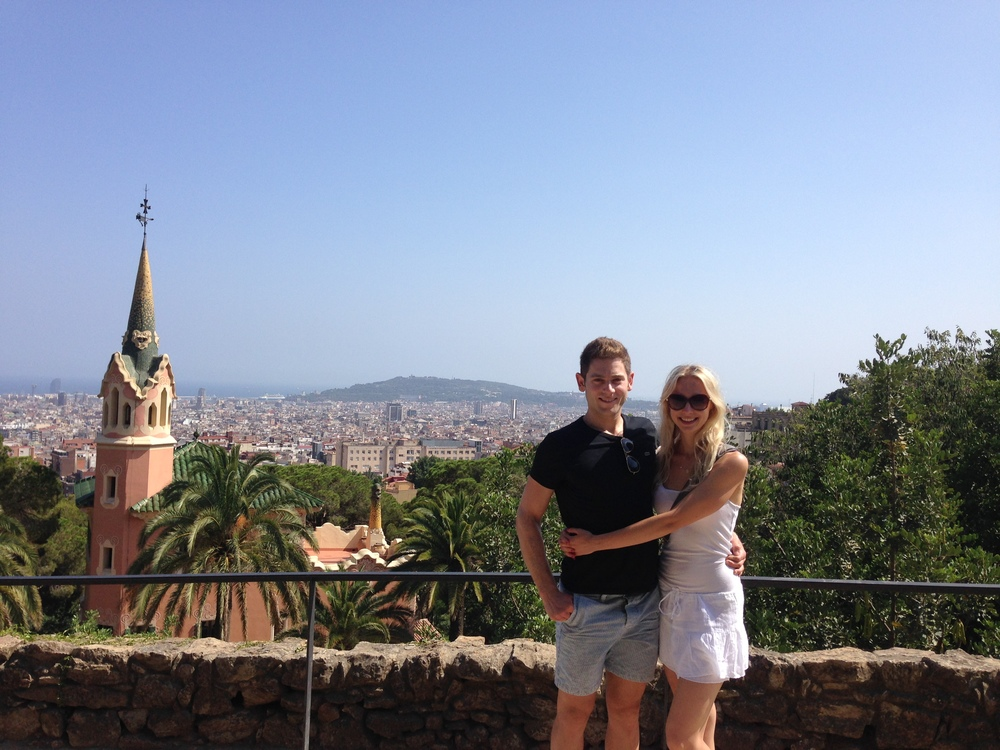 We had a great time at Park Guell!  Walking up and down the steep slopes was great for getting fitter.