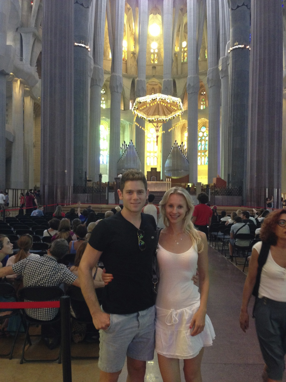 AFC made it to La Sagrada Familia in between workouts.