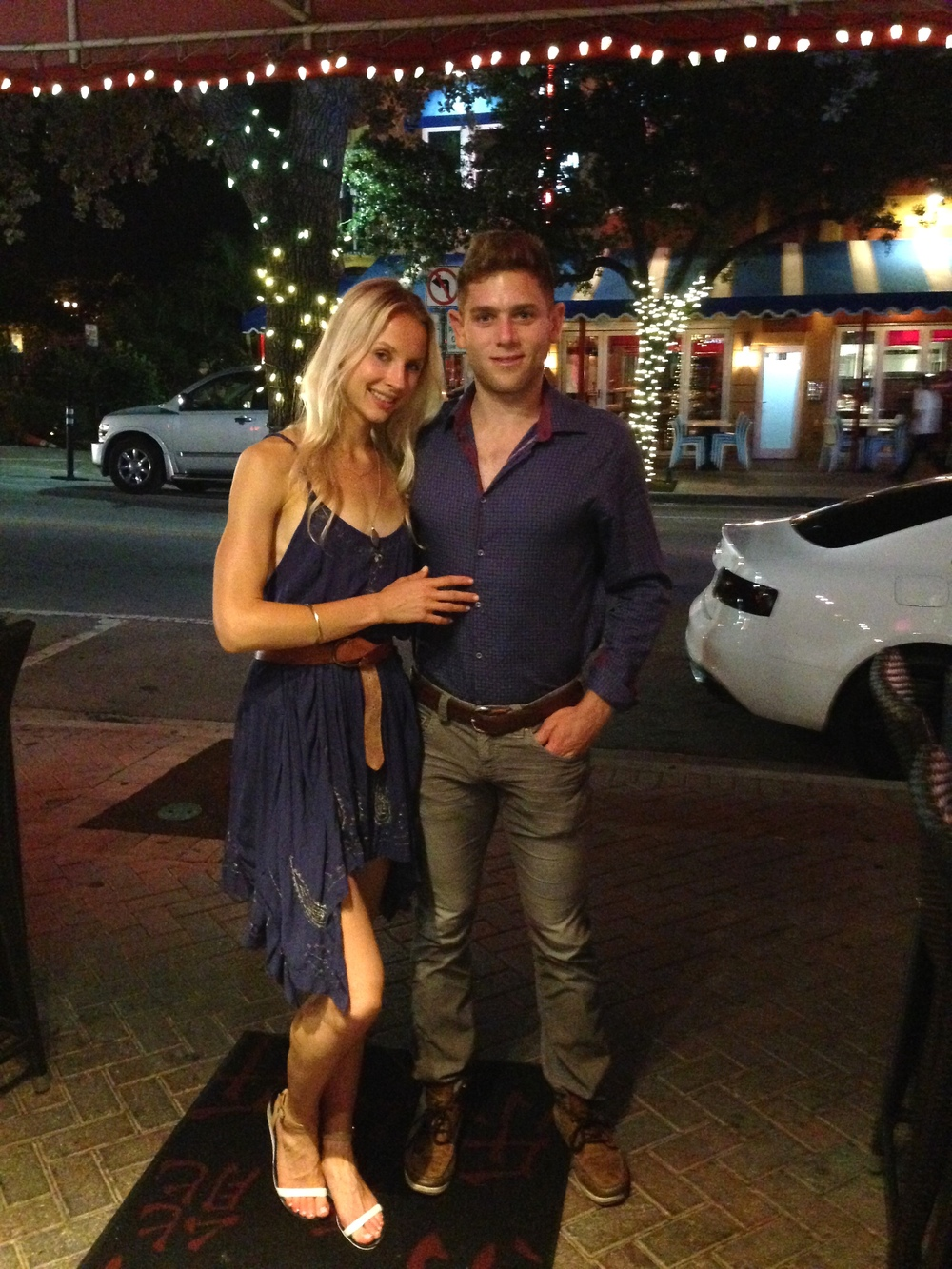 2014 marked a watershed year for the Slice, as the Couple determined that they would arrange the event locally in years to come.  AFC posed here for a shot before their once-a-year dinner on Atlantic Ave in Delray Beach, at that point still thin and cravings-free.