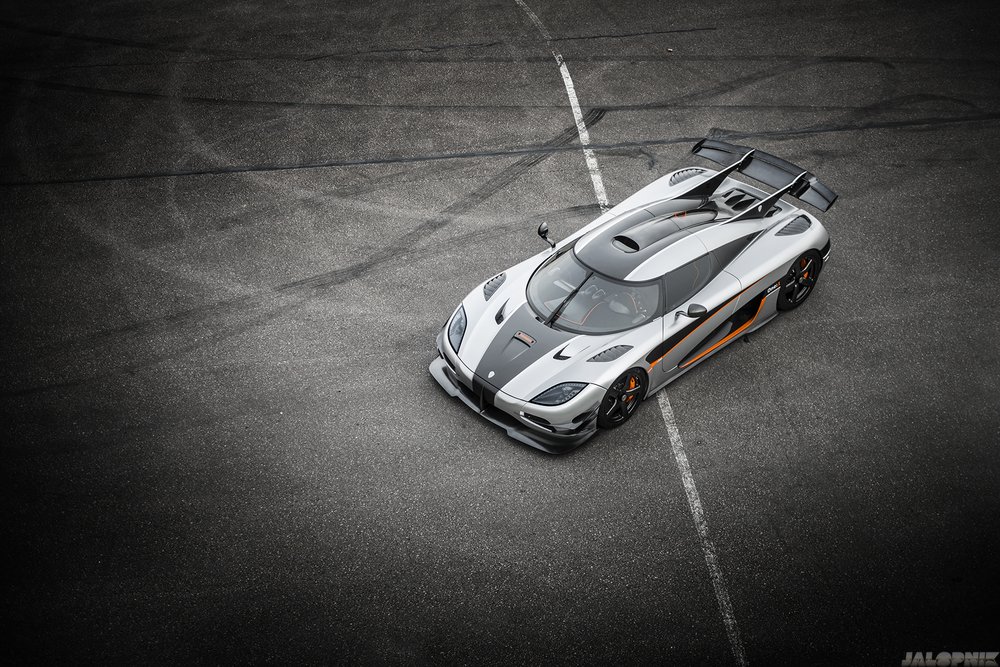 The Koenigsegg One:1, the first production car to have a perfect 1:1 power to weight ratio. Photo: GF Williams and Jalopnik.
