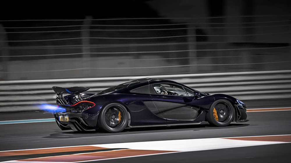 McLaren P1 at the Yas Marina Circuit in Abu Dhabi, UAE.