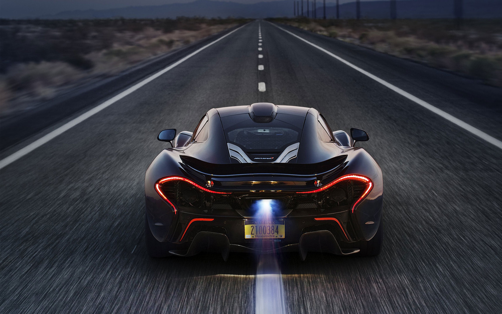 McLaren P1 in California Desert.