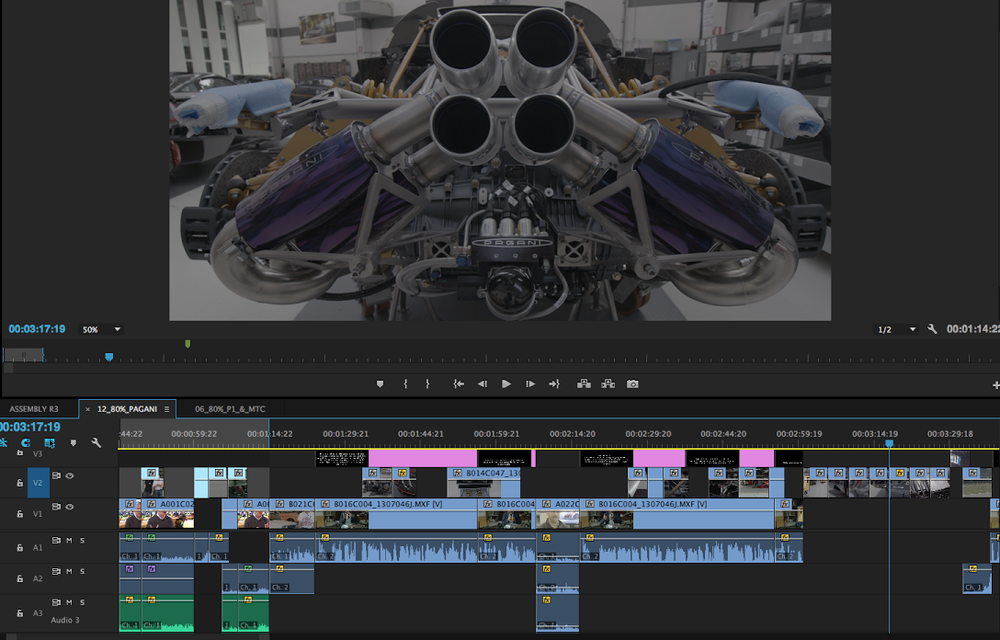 Screenshot of the APEX Timeline in edit.