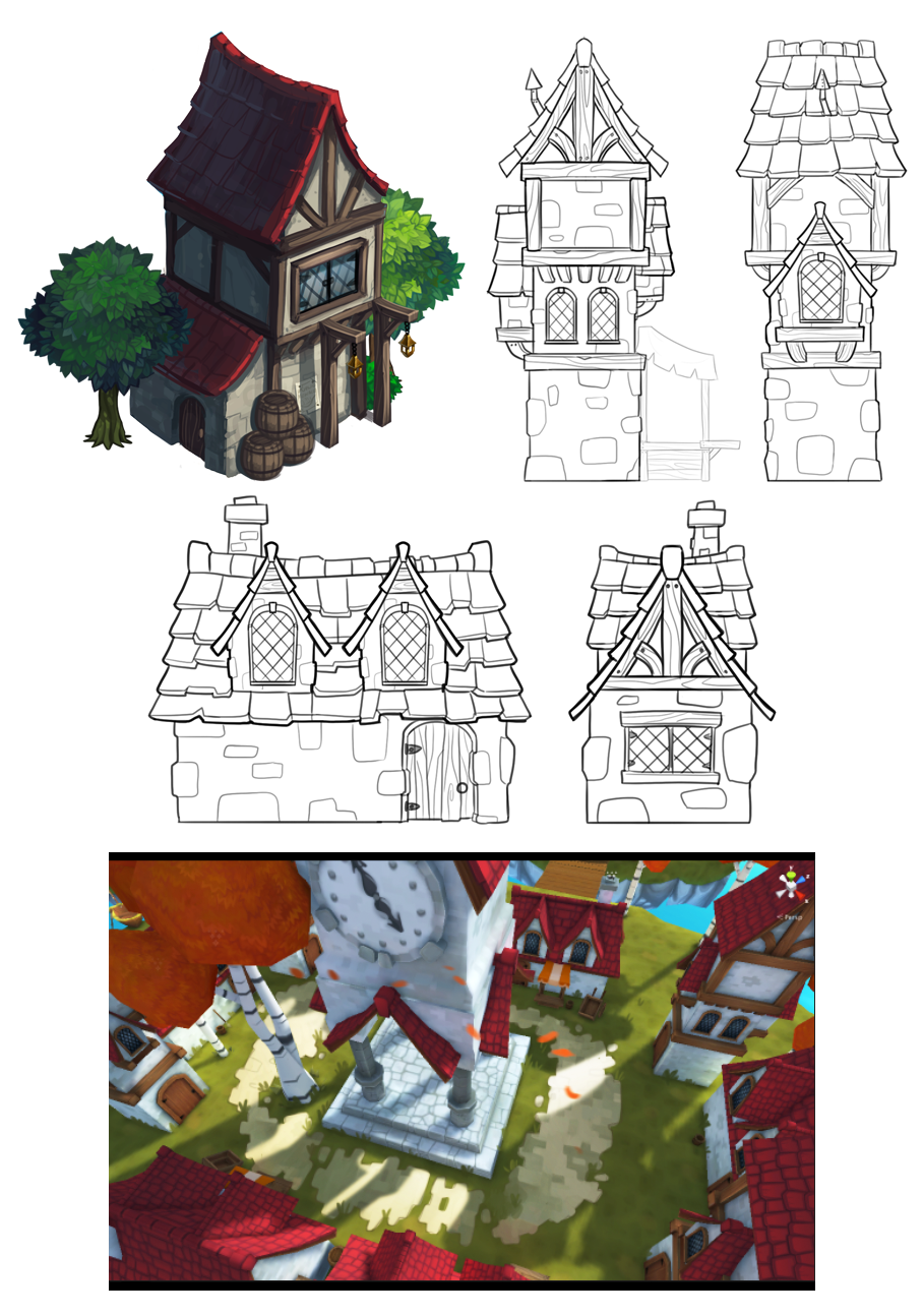 """Prop and environment design for""""Battle Bears Pro"""" mobile game (c) SkyVu Entertainment. 3D models by  Max Kaeter , concepts, orthos, paintover and textures by me."""