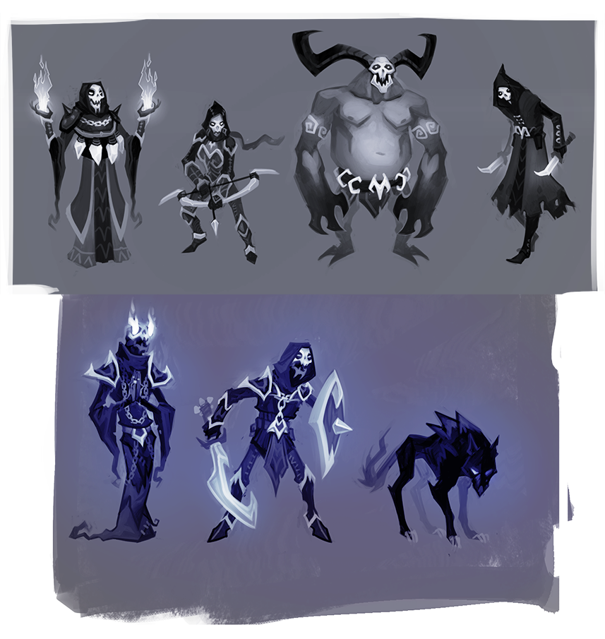 Enemy designs for an untitled project (c) SkyVu Entertainment