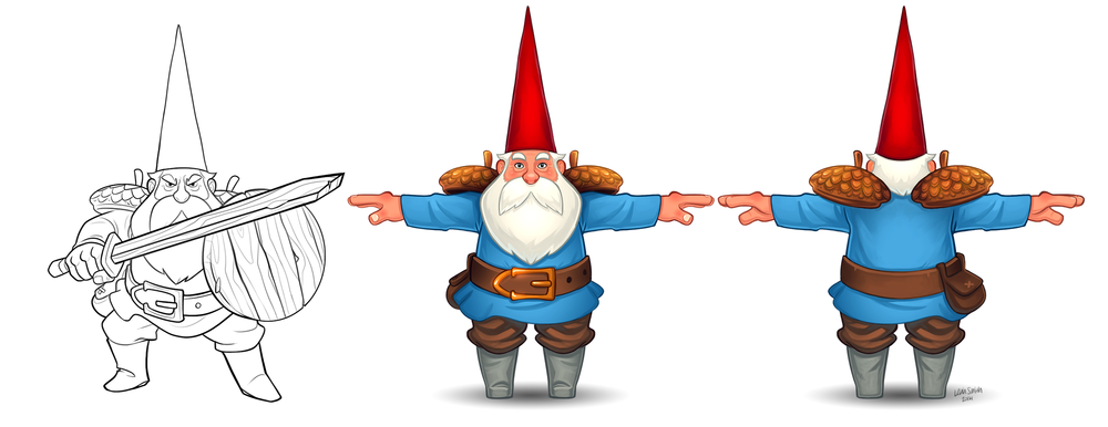 """""""KinGnome"""" character design (c) Dynalmo Software Machinery"""