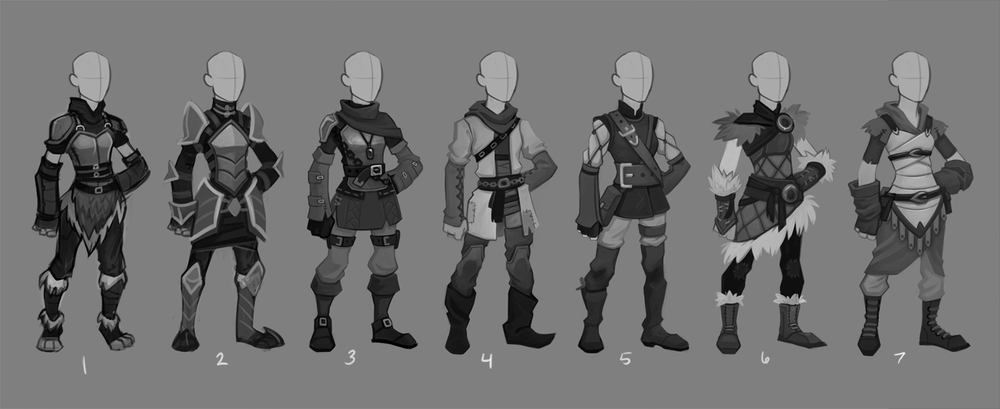 Armor designs for an untitled project (c) SkyVu Entertainment