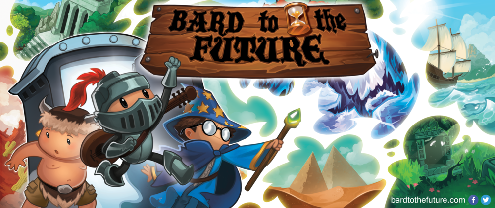 """Promo banner for """"Bard to the Future"""" game (c) BattleBard Games"""