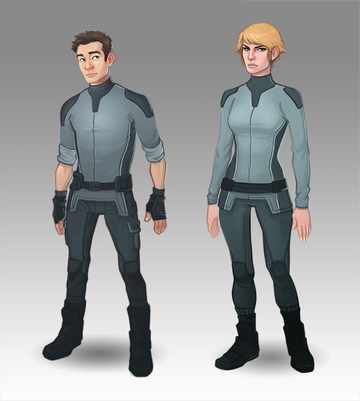 "Character designsfor ""Project Blue Steel""(c) SkyVu Entertainment"