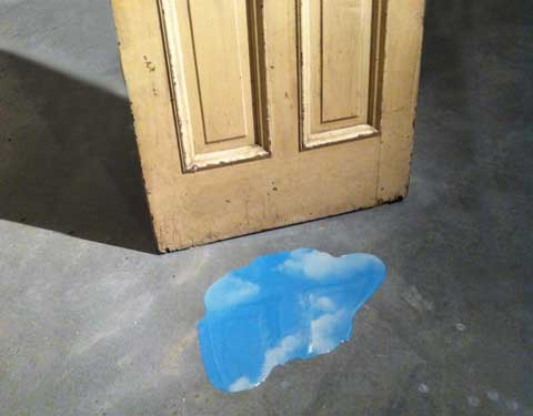 Yoko Ono, Sky Puddles, Doors (detail), 2011. Image courtesy and © the artist