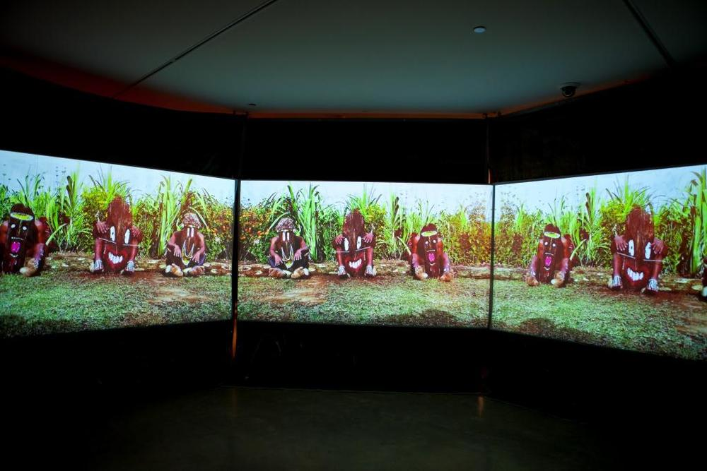 Yal Ton (Eric Bridgeman),  Haus Man , 2012, Installation view, TABOO, Museum of Contemporary Art Australia, 2012 Image courtesy and © the artist. Photograph: Alex Davies