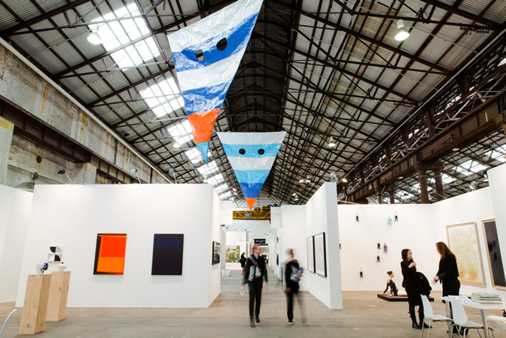 Laith McGregor  Untitled  2015, tarpaulin Courtesy the artist and STARKWHITE, Auckland
