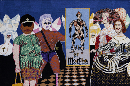 Robert Brain Mardi Gras2005, tapestry. 110x80cm. Photograph: Michael Wee