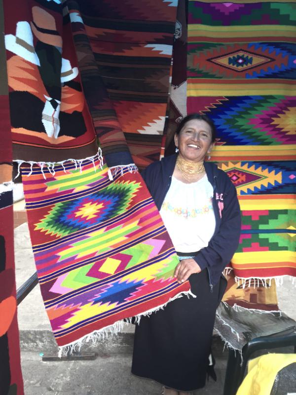 Otavalo rug weaver
