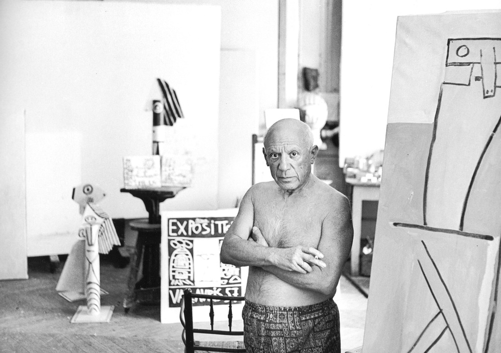 Portrait of Pablo Picasso, Cannes 1957 Silver gelatin print, signed. 30 x 40 cm / 11,8 x 15,7 inch Signed edition P.O.A.