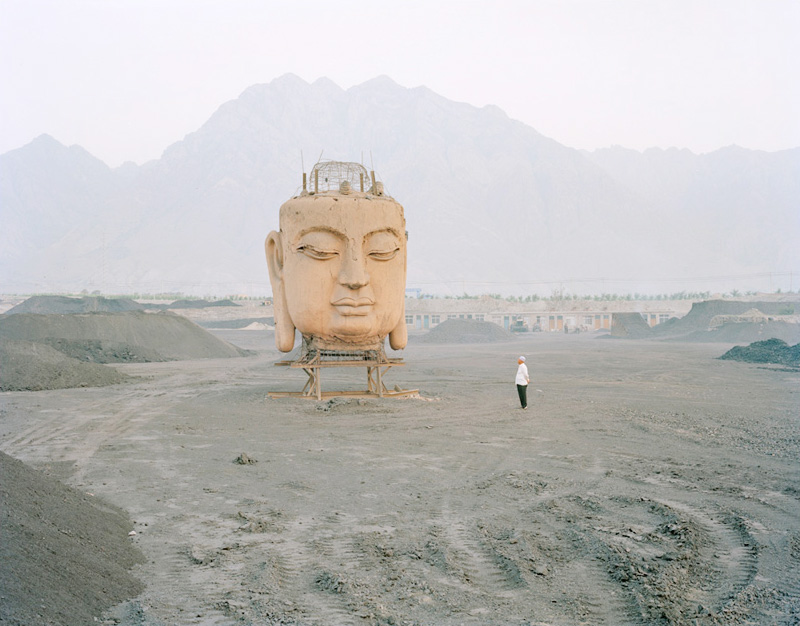 Buddha's Head in Coal Yard , Ningxia, 2011
