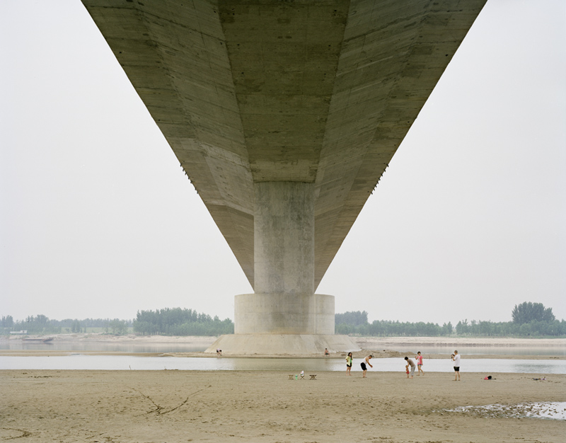 A Family Spending the Weekend Under the Bridge, Shandong, 2011