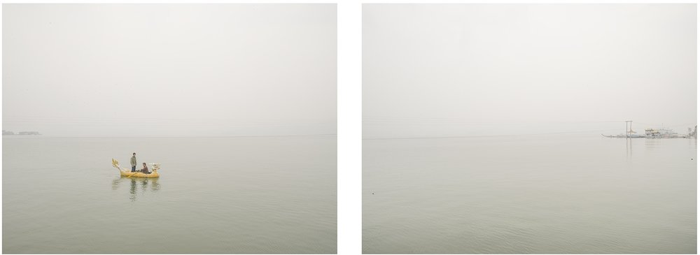 Little Dragon Boat in The Three Gorges, 106 x 84 cm / 120 x 96 cm each (Set of   2)