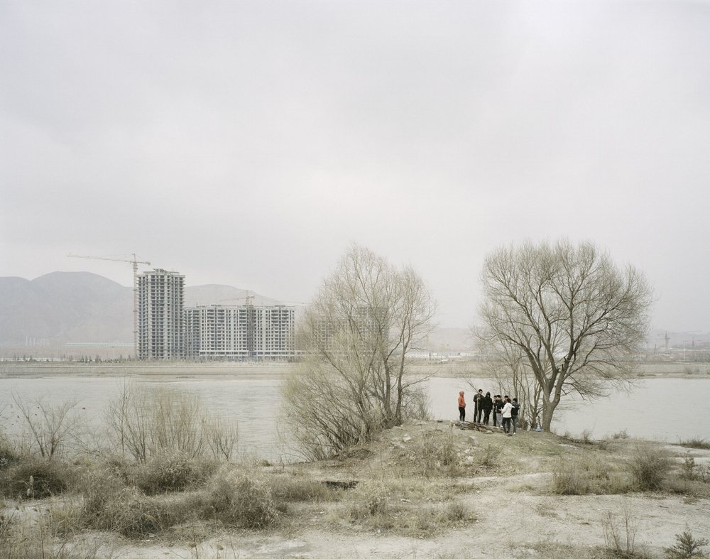 People Roasting under a Tree, Gansu, 2010
