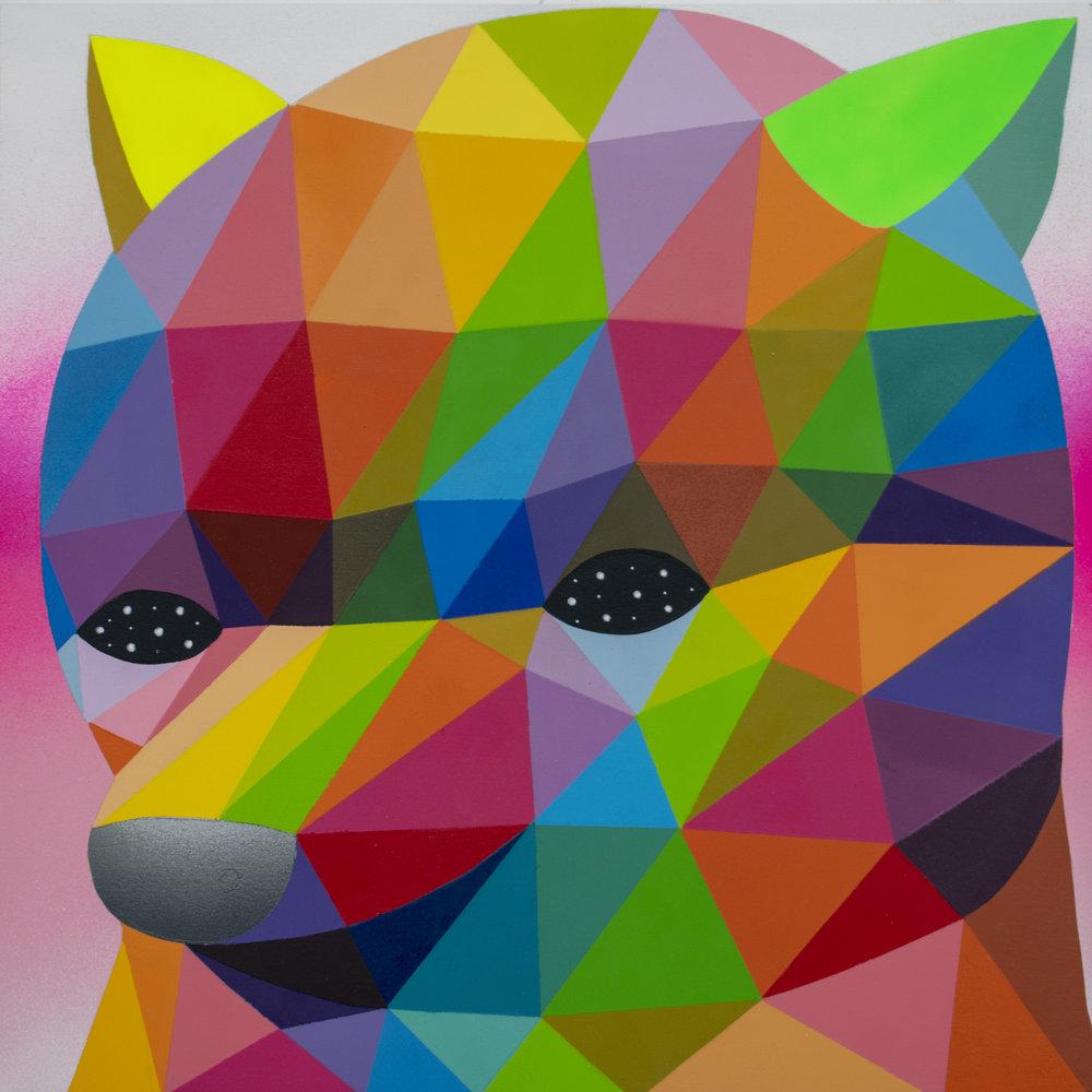 _Pig bear_ 2018 Synthetic enamel on wood 40x40cm.jpg