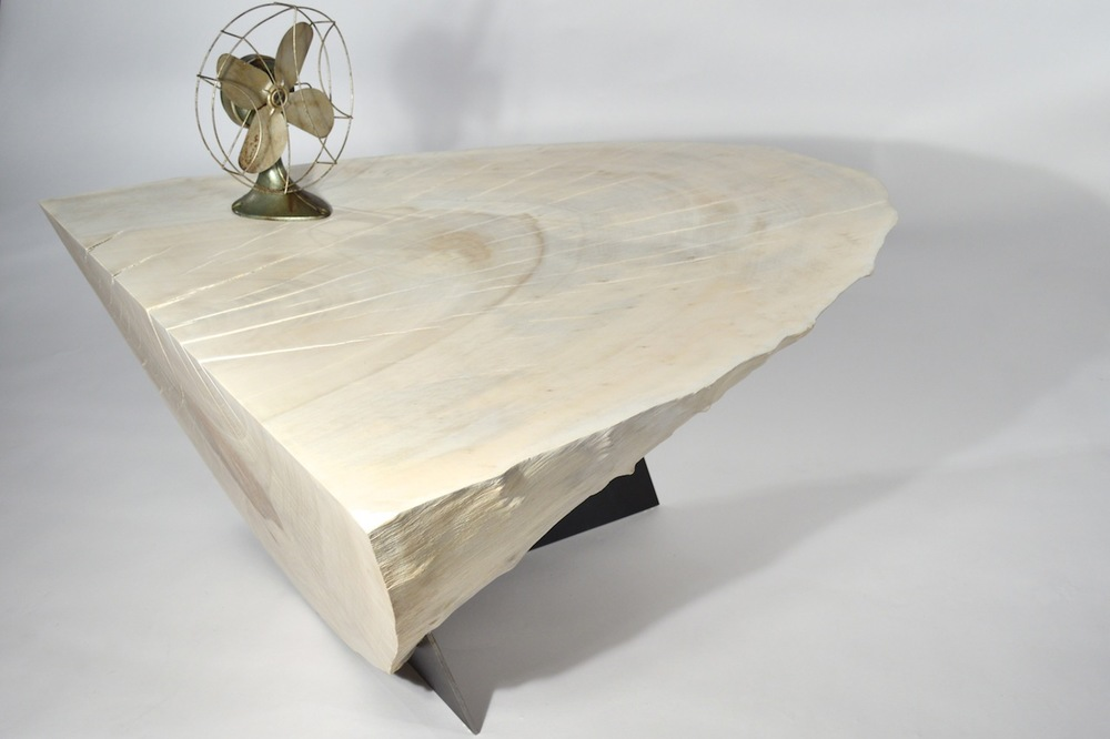Orca  Bleached Whitewashed London Plane hard wood Coffee table  Quixotic  Bespoke
