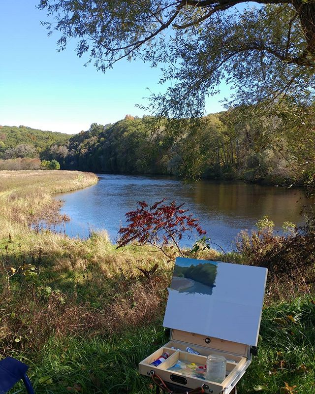 First day #pleinair #painting workshop with @jclareart Beautiful day with great people! @plein_air_life @studio_and_pleinair @landscape_today