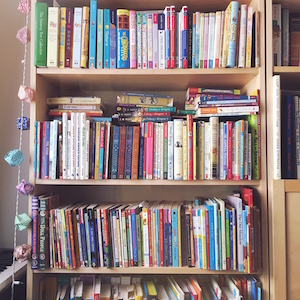My daughter's bookshelves
